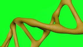 roterende DNA met de groene achtergrond van de het schermmotie stock illustratie