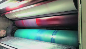 Roterende druk stock videobeelden