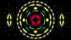 Roterende gekleurde cirkels abstracte achtergrond royalty-vrije illustratie
