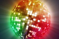 Roterende stroboscoop Een gekleurde gloeiende bal royalty-vrije stock foto