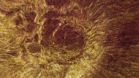 Roterende tunnel in gouden kleur stock videobeelden
