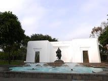 Roterende waterjet fonteinen, Magische Waterkring, Lima Stock Afbeeldingen