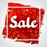 Rotes abstraktes Hintergrunddesign des Verkaufs mit Funkeln Stockfotografie