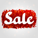 Rotes abstraktes Hintergrunddesign des Verkaufs mit Funkeln Lizenzfreie Stockfotografie