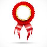 Rotes Abzeichen. Beste Wahl Stockfotografie