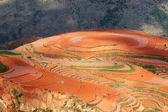 Rotes Ackerland, dongchuan, Yunnan, Porzellan Lizenzfreies Stockbild