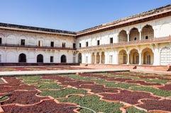 Rotes Agra-Fort in Agra Uttar Pradesh Indien lizenzfreies stockbild