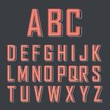 Rotes Alphabet Lizenzfreie Stockfotos