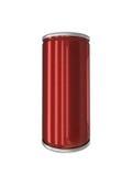 Rotes Aluminiumgetränk kann lokalisiert mit Beschneidungspfad Stockfotos