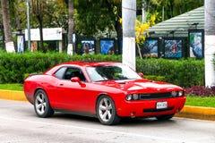 Rotes amerikanisches Muskel-Auto Stockbild