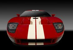 Rotes amerikanisches Sportauto Lizenzfreie Stockfotografie