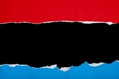 Rotes andblue heftiges Papier Stockbilder