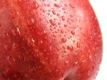 Rotes Apfeldetail Stockfoto