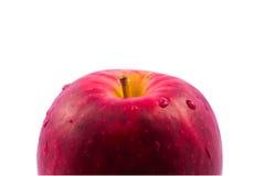 Rotes Apfelisolat stockfotografie