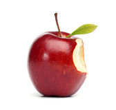 Rotes Apple mit Biss Stockfoto