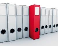 Rotes Archiv lizenzfreie abbildung
