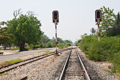 Rotes Aspekt-Signal Lizenzfreies Stockfoto