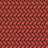 Rotes aus Weiden geflochtenes nahtloses Muster Stockbild