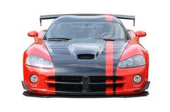 Rotes Ausweichen-Viper-Sportauto Stockfoto
