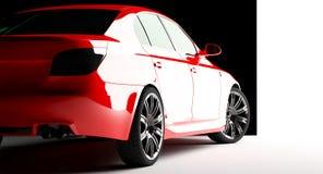 Rotes Auto auf einem Hintergrund Stockbild
