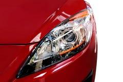 Rotes Auto-Detail Stockbild