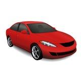 rotes Auto mit Schatten Stockfoto