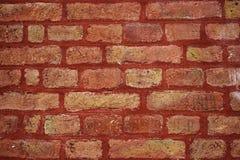 Rotes Backsteinmauerdetail lizenzfreie stockfotos