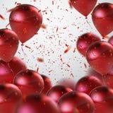 Rotes Ballonbündel stock abbildung