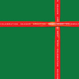 Rotes Band auf grüne Farbpapier für Festival Lizenzfreie Stockbilder