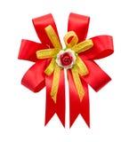 rotes Band dekorativ stockfotografie