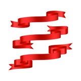 Rotes Band mit den Steigungsfahnen eingestellt Lizenzfreies Stockfoto