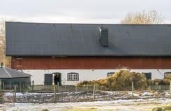Rotes Bauernhaus Lizenzfreies Stockbild