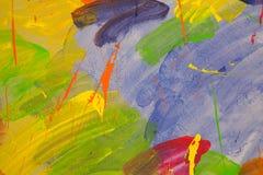 Rotes blaues Grün der abstrakten Farbwand Lizenzfreies Stockfoto