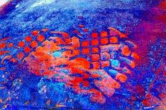 Rotes blaues grunge Lizenzfreies Stockfoto