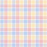 Rotes blaues und gelbes kariertes buntes nahtloses Muster, Vektor lizenzfreie abbildung