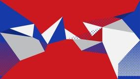 Rotes blaues weißes Muster des abstrakten Hintergrundes Lizenzfreies Stockfoto