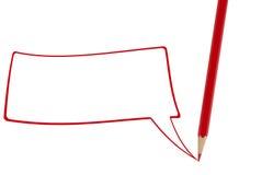 Rotes Bleistiftschreiben Lizenzfreie Stockfotos