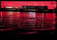 Rotes Blitz Gebäude Lizenzfreie Stockfotos
