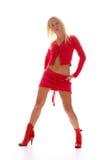 Rotes blondes Mädchen Stockfoto