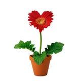 Rotes Blumeinneres lizenzfreies stockfoto