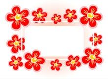 Rotes Blumenfeld lizenzfreie abbildung