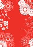 Rotes Blumenornement Lizenzfreie Stockbilder