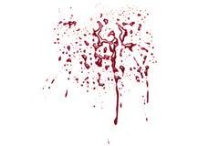 Rotes Blut plätschert Stockfotos