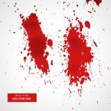Rotes Blut spritzt auf weißen Hintergrund lizenzfreie abbildung