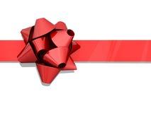 Rotes Bogen-Farbband Stockfoto