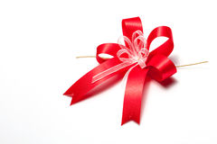 Rotes Bogenband Stockfotografie