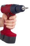Rotes Bohrgerät - auswendiges Bohrmaschine Lizenzfreie Stockfotografie