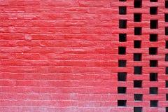 Rotes brickwall Lizenzfreies Stockfoto