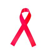 Rotes Brustkrebs-Farbband Stockbild