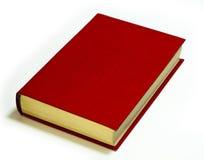 Rotes Buch auf weißem Hintergrund Lizenzfreie Stockfotos